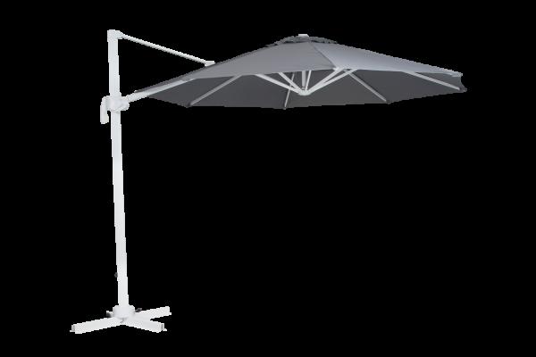 Sonnenschirm Ampelschirm Linz II Ø 300 cm weiß grau