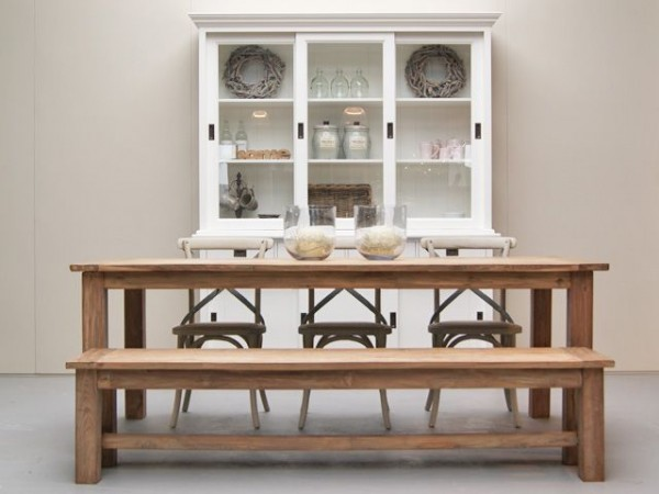 Esstisch DENGKLEH 260 x 100 cm Teakholz massiv Holztisch Tisch