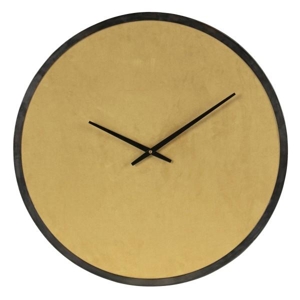 woood Wanduhr Uhr Renske Ø 62 cm Samt Ocker rund