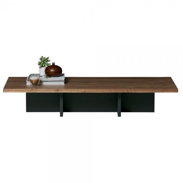 Couchtisch James 137 x 60 cm Beistelltisch Sofatisch Tisch Nussbaum furniert