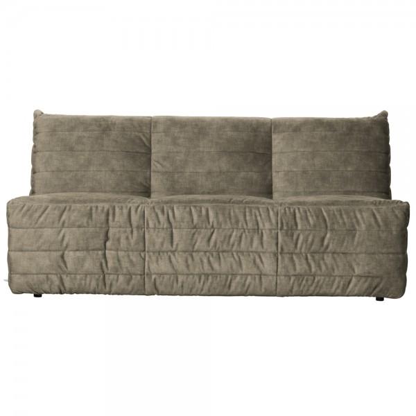 Sofa Bag 160 cm Samt sandfarben Couch