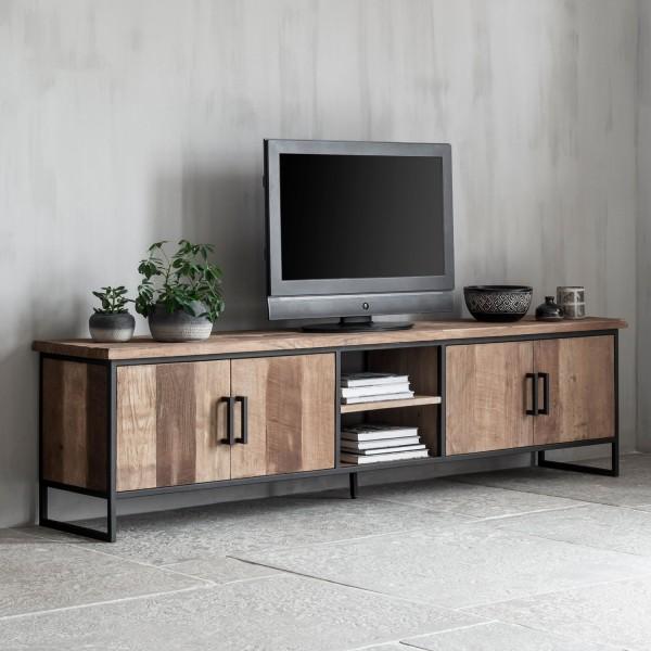 DTP HOME TV-Board 220 cm BEAM No 2 Teak Holz Lowboard