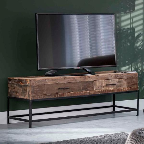 Vintage TV Möbel Loft 135 cm Lowboard recyceltes Holz