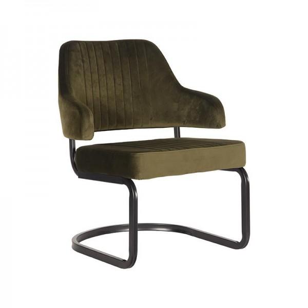Lounge Sessel Otta Samt Velvet armygrün