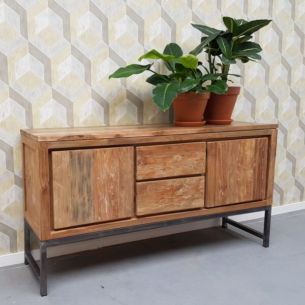 Vintage Sideboard Boston 160 Cm Teak Kommode Schrank