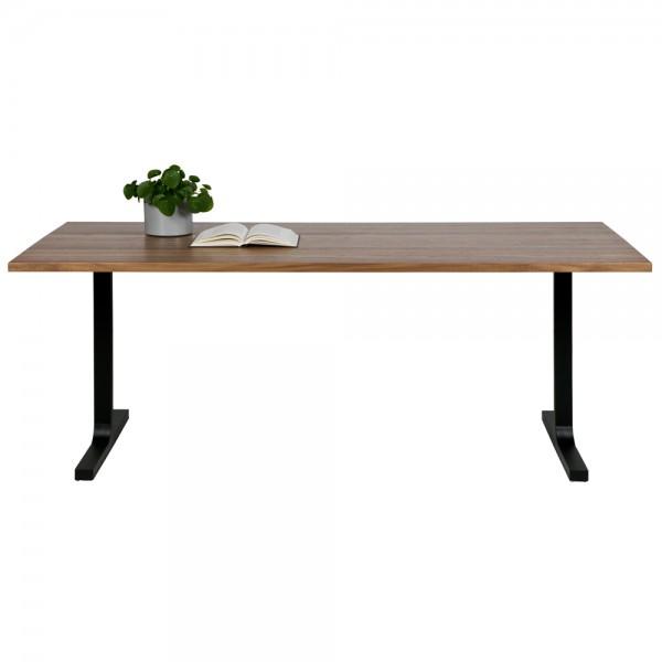 Esstisch Jimmy 200 x 90 cm Nussbaum Metall Dinnertisch Tisch Esszimmertisch
