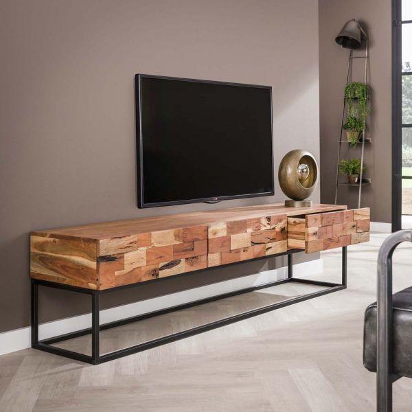 TV Möbel Milla 180 cm Lowboard Akazienholz