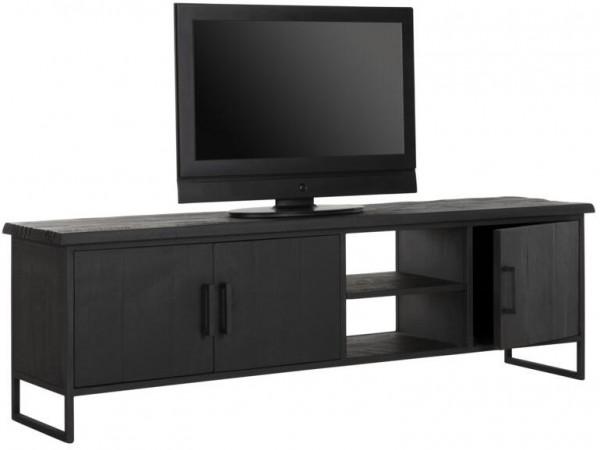 DTP HOME TV Lowoard 180 cm BEAM No 2 schwarz Teak Holz