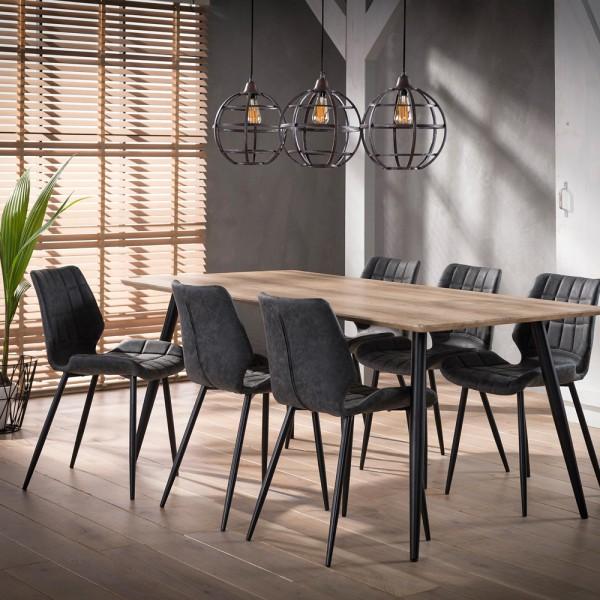 Esstisch 190 x 90 cm MDF Eiche Dekor antikwash Tisch Esszimmertisch Dinnertisch
