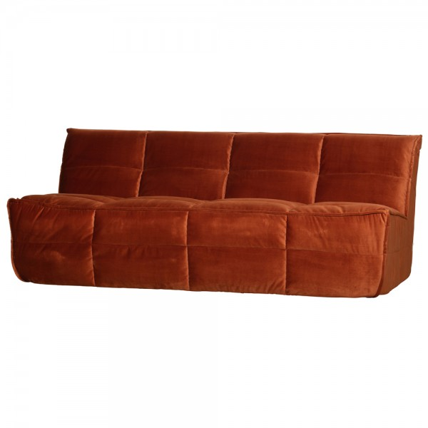 vtwonen 3-Sitzer Sofa Cluster rost Samt Velour Couch Samtsofa