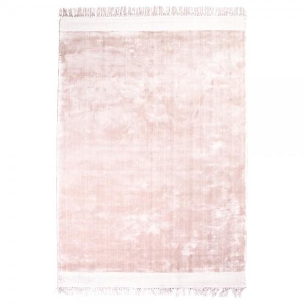 Vintage Wohnzimmer Teppich Peshi 160 x 230 cm pink Teppiche Carpet Shabby Look Landhaus Fransen