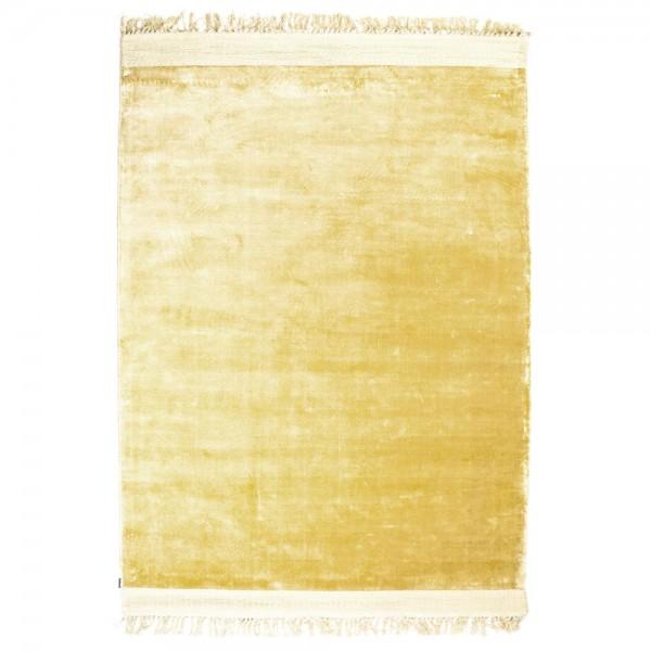 Vintage Wohnzimmer Teppich Peshi 160 x 230 cm gelb Teppiche Carpet Shabby Look Landhaus Fransen