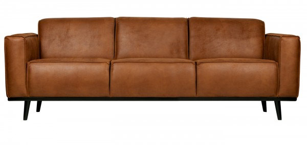 BePureHome 3 Sitzer Sofa STATEMENT Eco Leder cognac