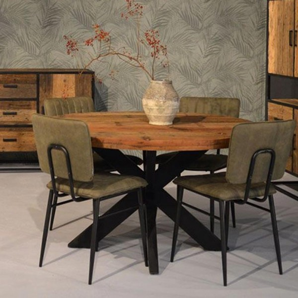 Esstisch Dakota Ø 130 cm Mangoholz Dinnertisch Tisch Esszimmertisch