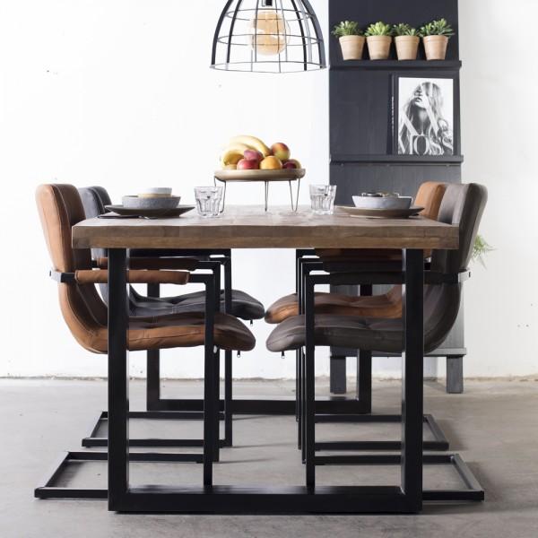 Esstisch BARN 200 x 100 cm Holztisch Metall Industrie Design Esszimmertisch