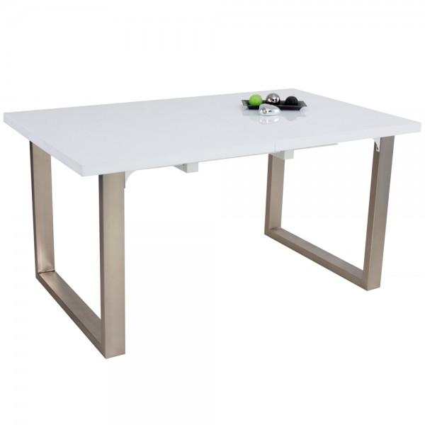 Tisch ROM Esszimmertisch Esstisch Küchentisch hochglanz weiß erweiterbar