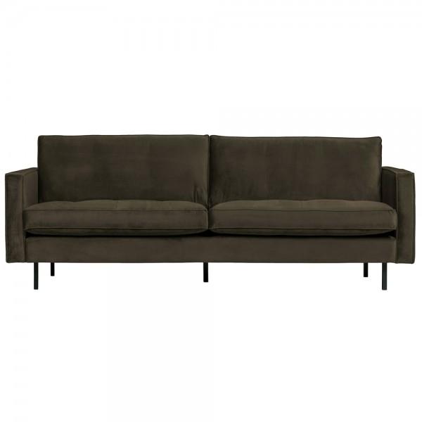 2,5 Sitzer Sofa Rodeo Classic Samt dunkelgrün Couch Loungesofa Couchgarnitur