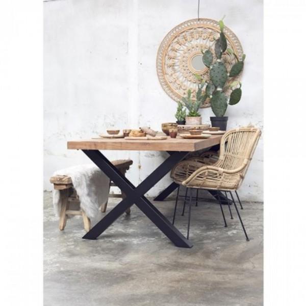 Esstisch Cross 220 x 100 cm Tisch Esszimmertisch