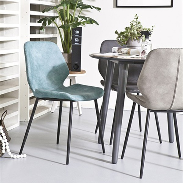 2er Set Esszimmerstuhl Seashell grau Stuhl