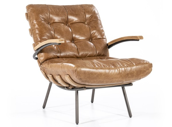 Ledersessel cognac Bastiaan Leder Loungesessel Sessel