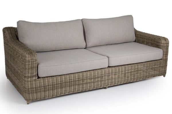 3 Sitzer Lounge Garten Sofa Glendon natur incl. Sitzkissen und Rückenkissen