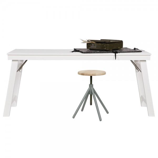 Schreibtisch KLAP Esstisch Beistelltisch Ablagetisch Mehrzwecktisch Kiefer weiß