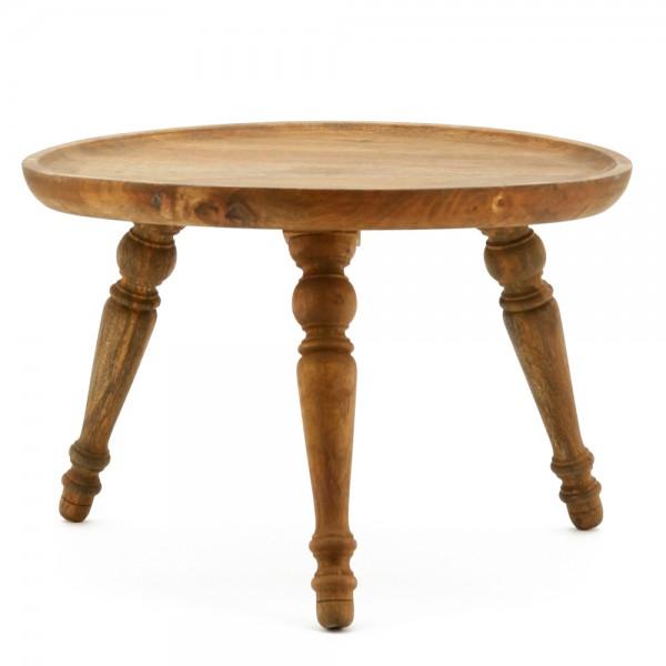 Beistelltisch ABU Ø 60 cm Tisch Kaffeetisch Anstelltisch Mango Massivholz Shabby