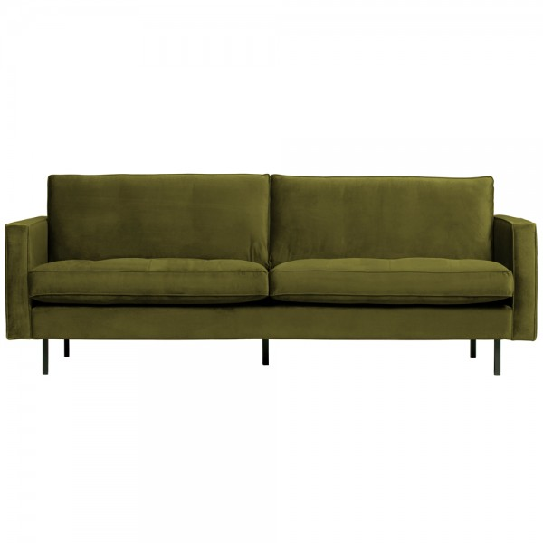 2,5 Sitzer Sofa Rodeo Classic Samt olive Couch Loungesofa Couchgarnitur
