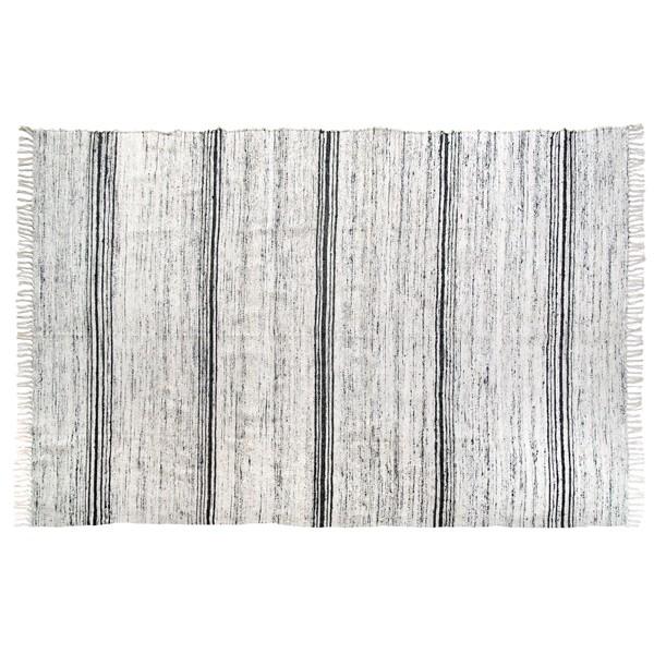 Seiden Teppich 180 x 280 cm schwarz weiß