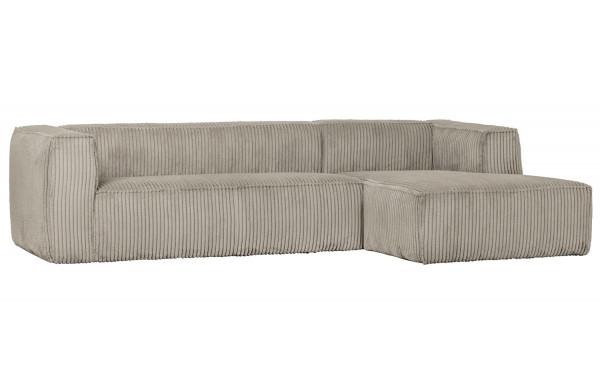 Ecksofa BEAN Rib Cord natural Longchair rechts