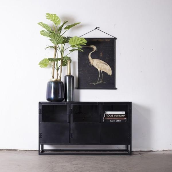 Kommode Urban 140 cm Metall schwarz Sideboard Lowboard