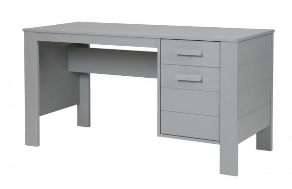 woood Schreibtisch DENNIS Kinder Kiefer FSC® betongrau grau