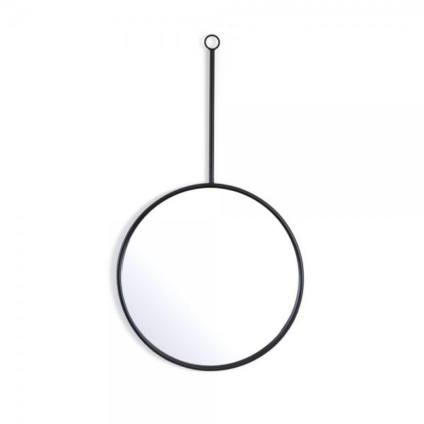 Wandspiegel Womack Spiegel Wanddeko Dekospiegel Mirror Metallrahmen schwarz