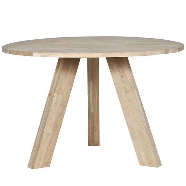 Esstisch RHONDA Holztisch Tisch Ø 130 cm Massivholz Küchentisch