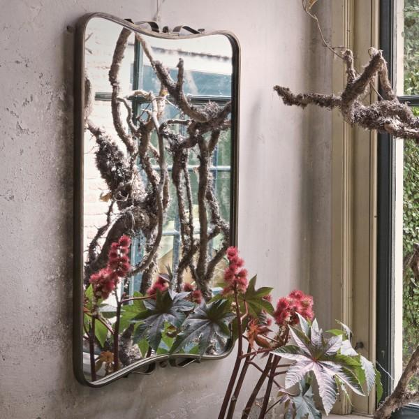 Wandspiegel Double 85,5 x 51,5 cm Spiegel Wanddeko Dekospiegel antik Messing