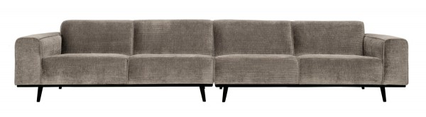 BePureHome XL 4 Sitzer Sofa Statement Rib Cord lehmfarben Couch