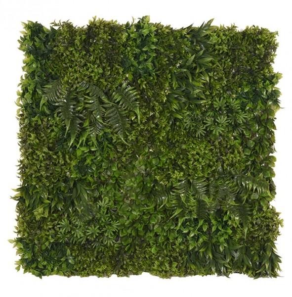 Kunstpflanzen für die Wand 80 x 80 cm Pflanzenteppich grün
