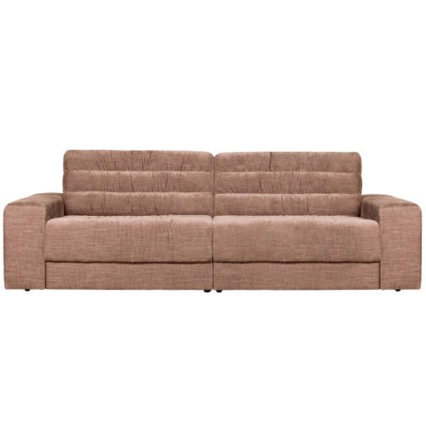 BePureHome 2 Sitzer Sofa Date 226 cm vintage Samt rougefarben Couch
