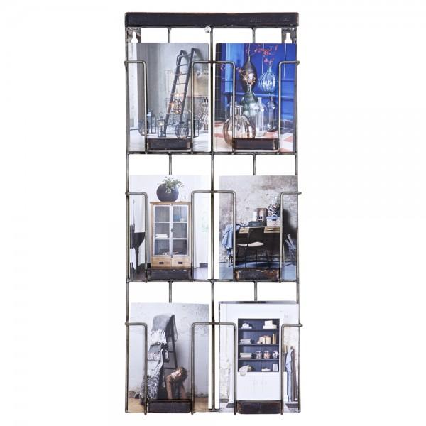 Postkartenhalter 24 x 55 cm Flyerhalter Display Wanddisplay Wandhalter Metall