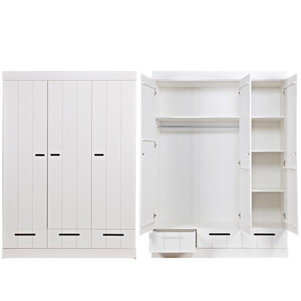 Kleiderschrank System CONNECT BASIC Kiefer 3 Türen + 3 Schubladen