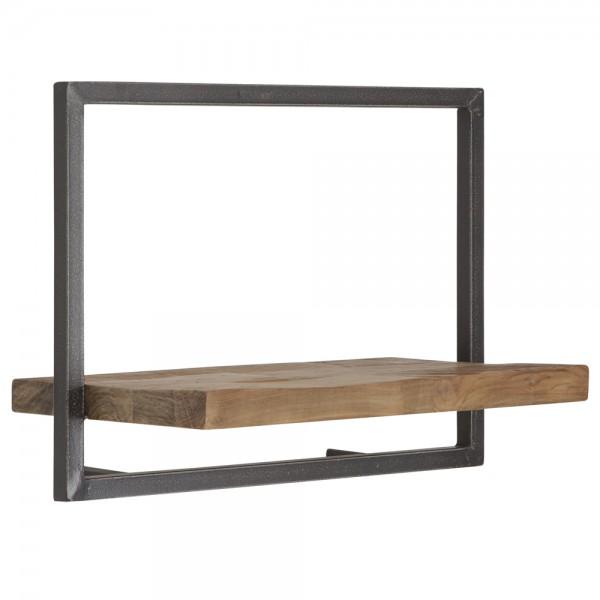 Wandregal Typ C Shelfmate 50 cm Metall Massivholz Ablageregal Aufbewahrung Regal