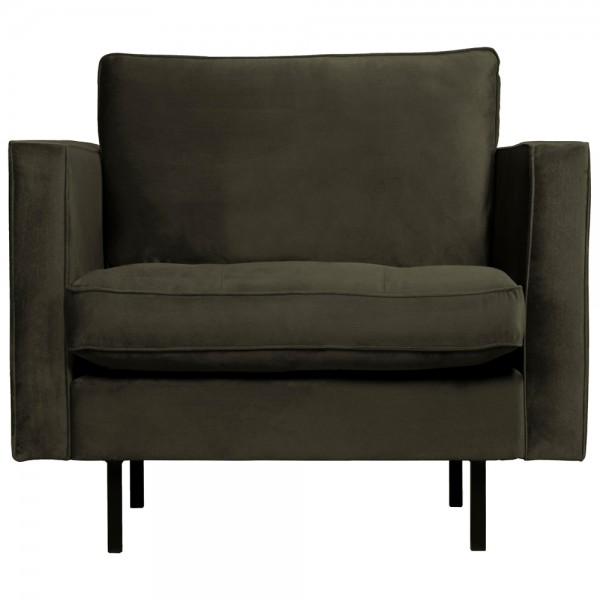 1,5 Sitzer Sessel Rodeo Classic Samt dunkelgrün Lounge Armlehnsessel Fernsehsessel