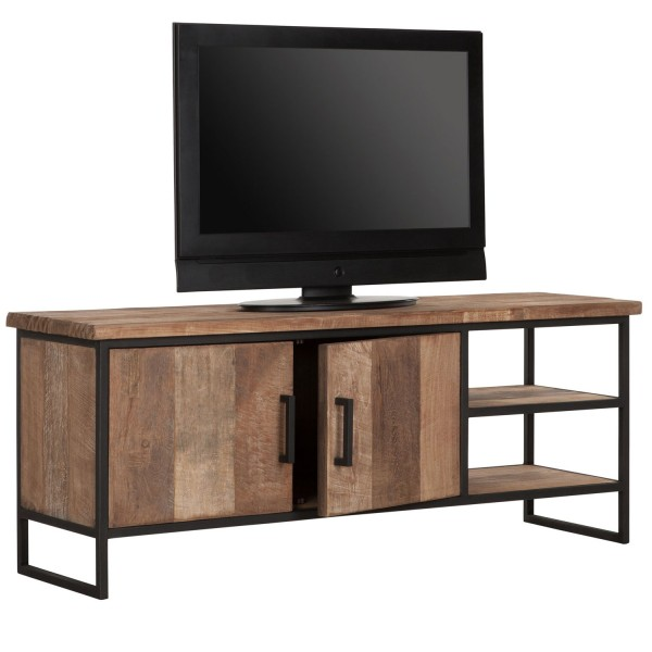 DTP HOME TV-Board 140 cm BEAM No 2 Teak Holz Metall Konsole TV-Rack TV-Möbel