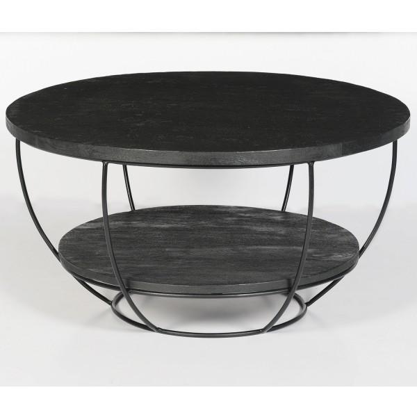 Couchtisch rund Evan Norris Ø 65 cm schwarz
