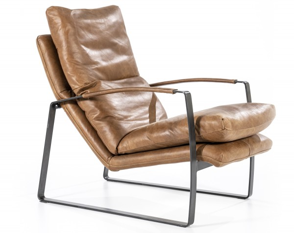 Lounge Sessel LEX Leder Vintage Cognac Ledersessel