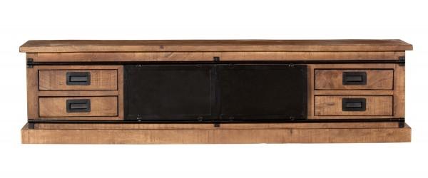 TV Möbel Tamar 200 cm Mango Massivholz Metall Lowboard