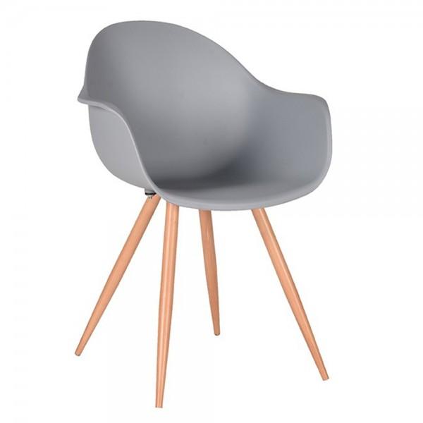 Schalenstuhl Parma grau Armlehne Stuhl Esszimmerstuhl Esszimmer Armlehnstuhl Stühle