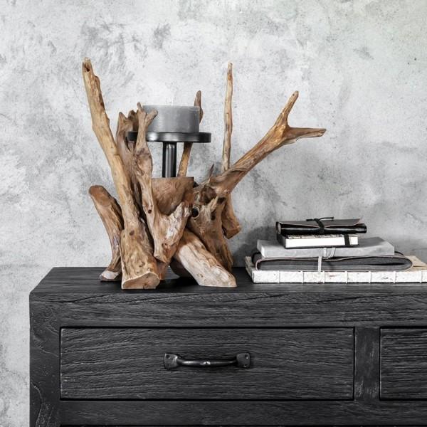MUST LIVING Kerzenständer Roots H 45 cm Teakholz Wurzel