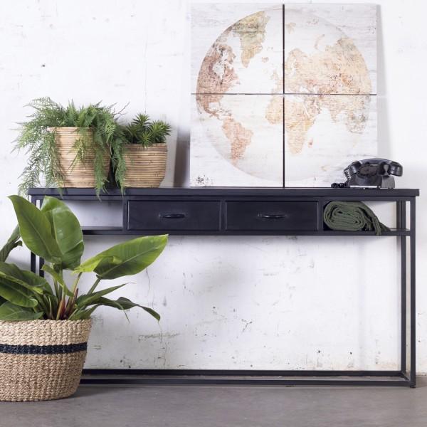 Industrie Sideboard Dansk 160 cm Metall schwarz