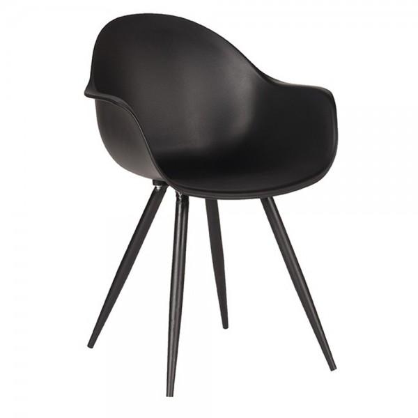 Schalenstuhl Luca schwarz Armlehne Stuhl Esszimmerstuhl Esszimmer Armlehnstuhl Stühle